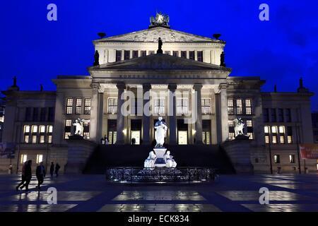 Deutschland, Berlin, Bezirk Mitte, Gendarmenmarkt, das Theater Schauspielhaus (Konzerthaus) Stockbild