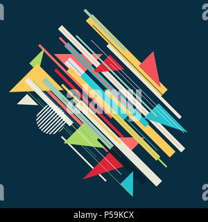 Zusammenfassung Hintergrund mit Retro styled Design Stockbild