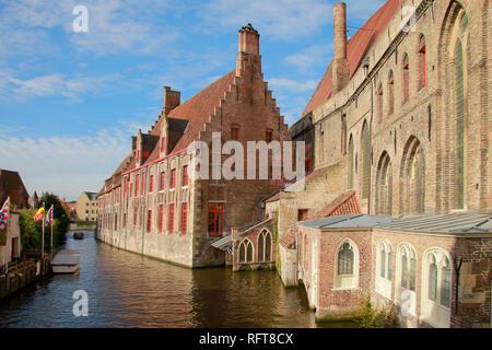 Alte St. John's Hospital, Brügge, UNESCO-Weltkulturerbe, Flandern, Westflandern, Belgien, Europa Stockbild