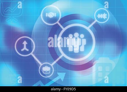 Anschauliches Bild, das strategische Kooperationen bauen Geschäft darstellt Stockbild