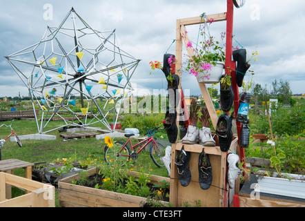 Kommunale Stadtgemeinschaft Garten am Flughafen Tempelhof jetzt Park in Berlin Deutschland Stockbild