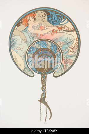 Le vent qui passe emporte La Jeunesse. (Der Lüfter), 1899. Private Sammlung. Stockbild