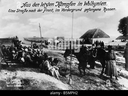 9 1915 8 0 A1 E Ost Fr Schlacht in der Goldberge Foto 1. Weltkrieg Eastern Front Schlacht im Wolhynien Sout Osten Stockbild