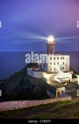 Baily Leuchtturm in der Abenddämmerung eingefangen. Stockbild
