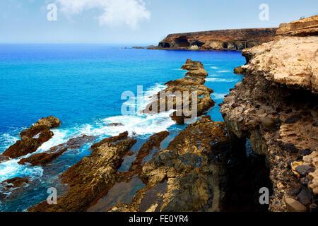 Ajuy Strand Fuerteventura auf den Kanarischen Inseln von Spanien Stockbild