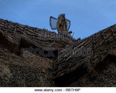 Bosham West Sussex Strohdach Kunst Stockbild