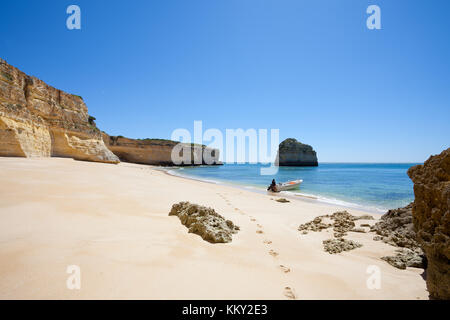 Portugal - Algarve - Praia da Marinha - Europa Stockbild