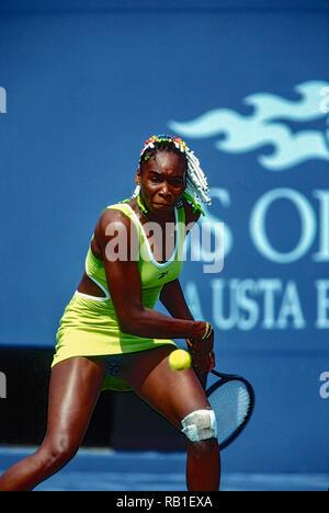 Venus Williams (USA), die 1998 auf uns OpenTennis Meisterschaft. Stockbild