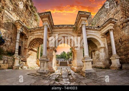 Hadrians Tor, Antalya, Türkei Stockbild