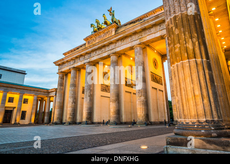 Brandenburger Tor in Berlin, Deutschland. Stockbild