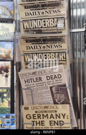 Tageszeitungen, Weltkrieg 11 Deutschland Stockbild