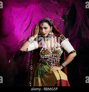 Portrait von Kalpana Iyer, Indien, Asien Stockbild