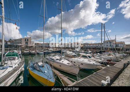Port Saint-martin-de-Re, Ile de Re, Nouvelle - Aquitaine, Französisch westcoast, Frankreich, Stockbild
