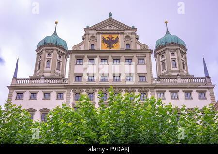 Das historische Rathaus von Augsburg, Bayern, Deutschland. Stockbild