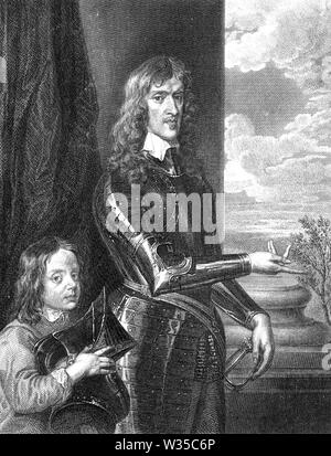 JOHN HUTCHINSON (1615-1664) Englischer puritanischer und Offizier in der parlamentarischen Armee Stockbild