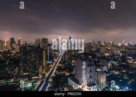Bangkok bei Nacht, Bangkok, Thailand, Südostasien, Asien Stockbild