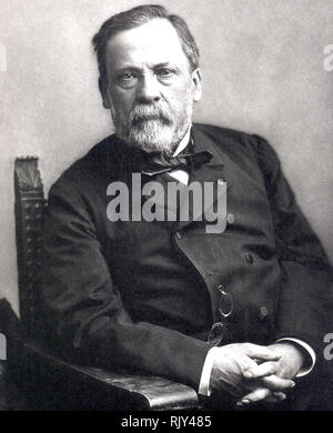 LOUIS PASTEUR (1822-1895) französische Biologe und Chemiker über 1885. Foto: Nadar Stockbild