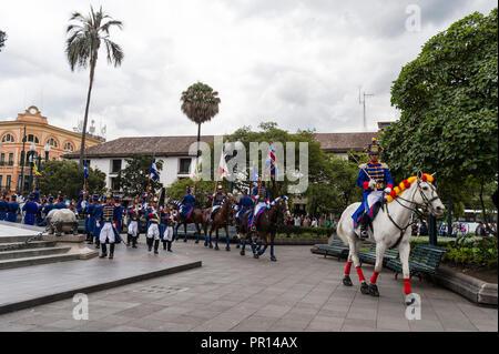 Die Presidential Parade an der Plaza de la Independencia, Quito, Ecuador, Südamerika Stockbild