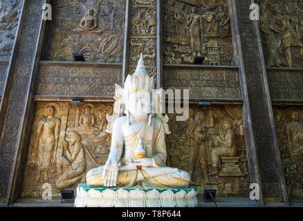 Sri Lanka, Colombo, Wekanda Bezirk, Gangaramaya buddhistischen Tempel Stockbild