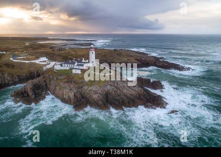 Fanad Leuchtturm in Co Donegal, Irland gelegen. Stockbild