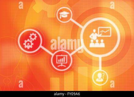 Anschauliches Bild der Begriffe im Zusammenhang mit MBA Stockbild