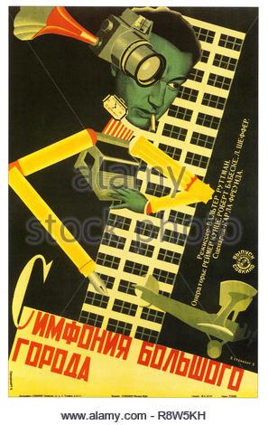 Berlin Sinfonie einer Großstadt 1928 - Vintage Poster Stockbild