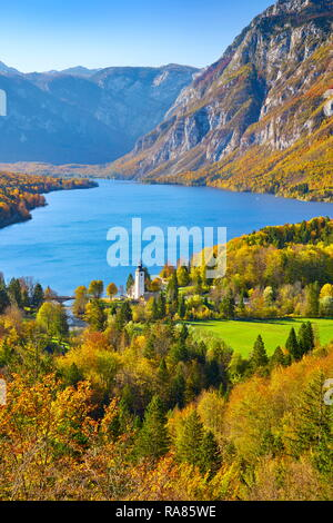 Bohinj See, Nationalpark Triglav, Slowenien Stockbild