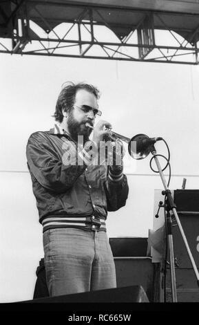 Randy Brecker, Kapital Jazz Festival, Knebworth, Herts, Juli 1979. Stockbild