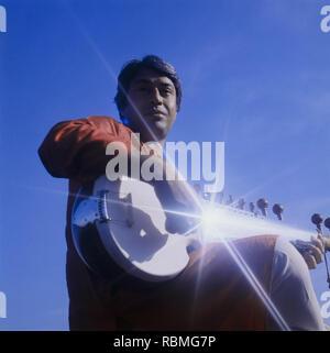 Musiker Amjad Ali Khan spielen Sitar, Indien, Asien Stockbild