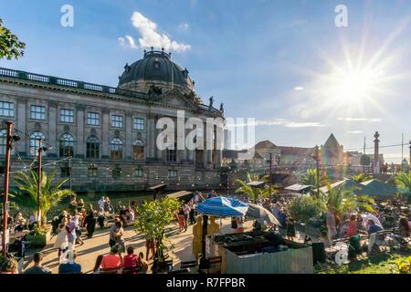 Spree, Strandbar in Mitte, Strandbar, Open air Tanz, Berlin, Stockbild