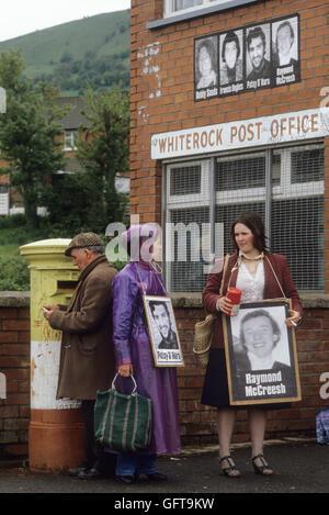 Hungerstreik gegen WhiteRock für die H-Block-Demonstration Belfast Nordirland 1981 The Troubles. HOMER SYKES Stockbild