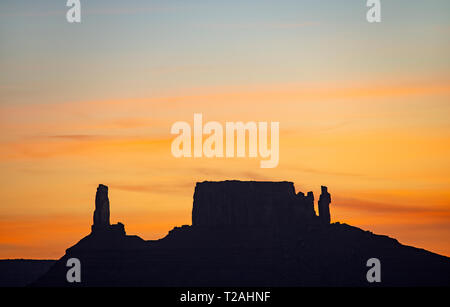 Bunter HIMMEL ÜBER PROFESSOR TAL, Moab, UT, USA Stockbild