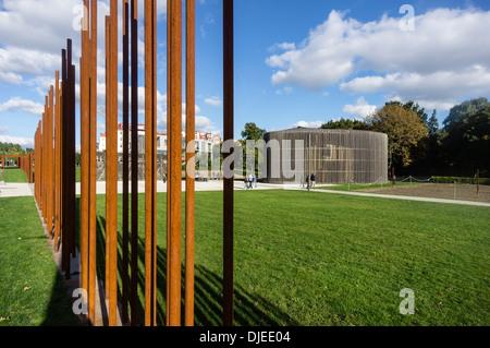 Gedenkstätte Berliner Mauer, Bernauer Straße, Berlin, Deutschland Stockbild