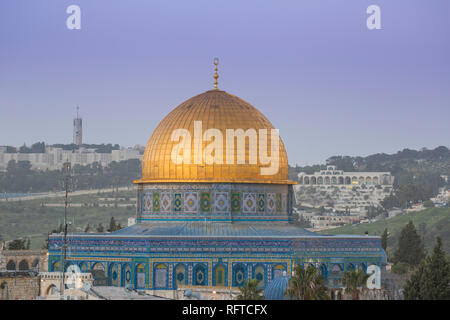 Felsendom, Altstadt, UNESCO-Weltkulturerbe, Jerusalem, Israel, Naher Osten Stockbild