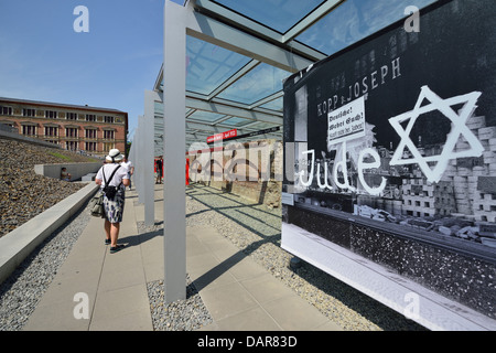Berlin. Deutschland. Topographie des Terrors, Gelände des ehemaligen NS-Institutionen, darunter die Gestapo Stockbild