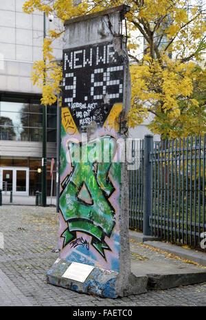 Die Berliner Mauer an der europäischen Bezirk in Brüssel Stockbild