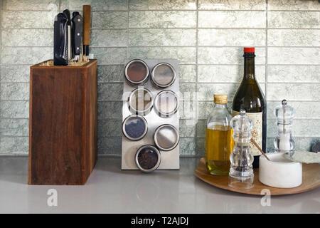 Asbury Park, New Jersey, USA. Home Küche Stockbild