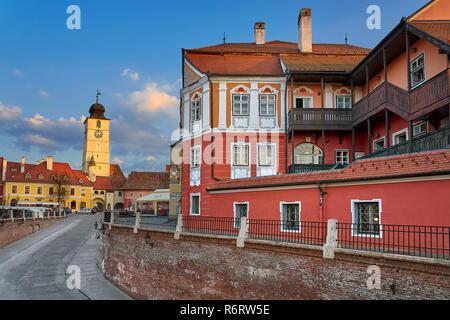 Kleines Quadrat, Sibiu, Siebenbürgen, Rumänien Stockbild