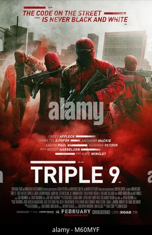 Film POSTER TRIPLE 9 (2016) Stockbild