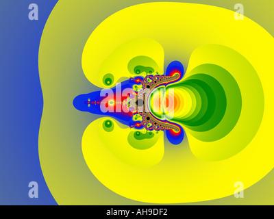 Fraktal Mandelbrot-Menge und applemale Stockbild