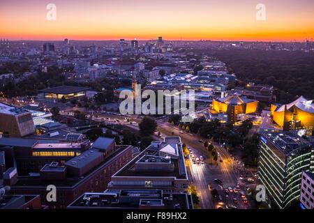 Skyline von Berlin, Deutschland Stockbild