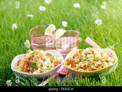 Bulgour Salat (Thema: unter freiem Himmel) Stockbild
