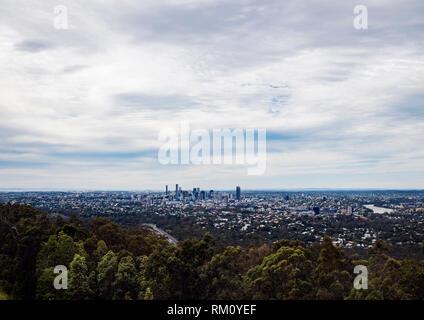 Blick auf die Skyline von Brisbane. Stockbild