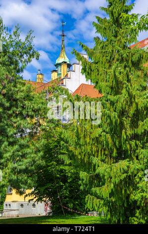 Historisches Wohnhaus, sogenannte Abel Haus, am Brettermarkt 8 in der Altstadt von Lindau im Bodensee, Bayern, Deutschland, Europa. Stockbild