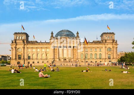 Europa, Deutschland, Berlin, Reichstag Stockbild