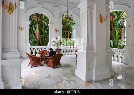 Raffles Hotel, kolonialen Stadtteil, Singapur, Südostasien, Asien Stockbild
