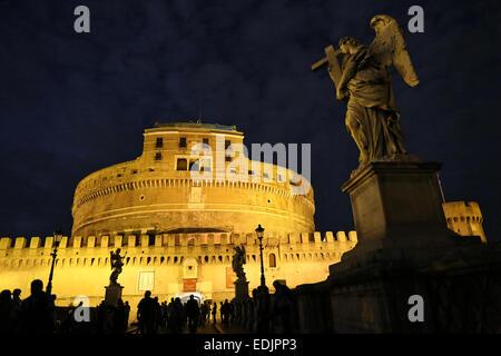 Castel St. Engel in Rom, Italien Stockbild