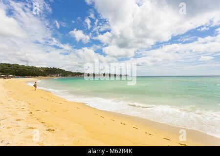 Unawatuna, Sri Lanka, Asien - ein Blick über die weite Bucht von Unawatuna Stockbild