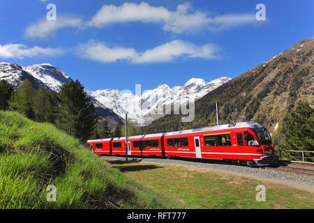 Morteratsch Gletscher, Kanton Graubünden (grigioni), Schweiz, Europa Stockbild
