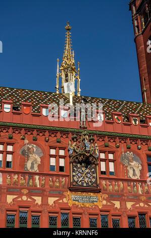 Ballen Rathaus, Basel, Schweiz Stockbild